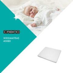 Witte Cabino - Wiegmatras Polyether - 40x80 cm