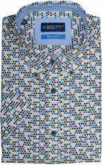 Bos Bright Blue 19107WO30BO Casual overhemd met korte mouwen - Maat M - Heren