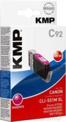 KMP Inkt vervangt Canon CLI-551M, CLI-551M XL Compatibel Magenta C92 1519,0006