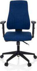 Hjh OFFICE Mathes - Professionele bureaustoel - Donkerblauw - Stof