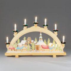 Bruine Kerst Kandelaar - Konstsmide