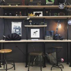 Zwarte Design85 - Steigerbuizen - kast - Wand