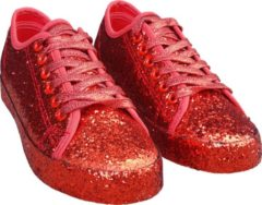 CHIAMAX Toppers glitter sneakers, rood
