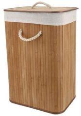 Bruine COMPACTOR Rechthoekige Vouwbare Wasmand 'Bamboo'