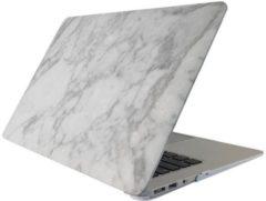 Macbook case van By Qubix - Marble (marmer) wit - Pro 13 inch RETINA - Alleen geschikt voor de Macbook pro Retina 13 inch (Model nummer: A1425 / A1502) - Hoge kwaliteit macbook cover!