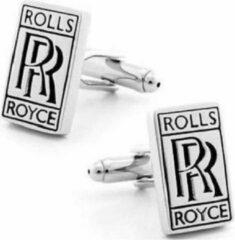 Trendy Gents Manchetknopen Auto Rolls Royce Zilverkleurig Zwart