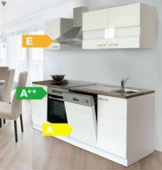 Respekta kitchen economy Respekta Küchenzeile KB220WWC 220 cm Weiß
