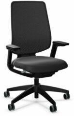 Sedus se:flex, Bureaustoel, met armleuningen, netbespanning, zwart, universele wielen