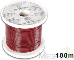 LegaMaster CCA LUIDSPREKERKABEL - 2 x 0.50mm² - ROOD/ZWART - ROL: 100m