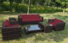 Baidani Rundrattan Garten Lounge Passion Select integrierter Stauraum