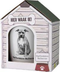 Witte Paper dreams Mok – Staffordshire Bullterrier – Dier – Puppy – Hond – Dieren – Mokken en bekers – Keramiek – Mokken - Porselein - Honden – Cadeau - Kado