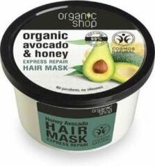 Organic Shop - Organic Avocado & Honey Hair Mask regenerująca maska do włosów Miodowe Awokado 250ml