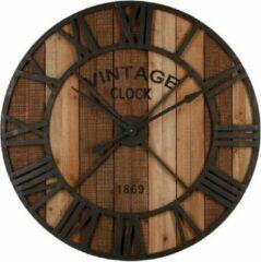 Bruine Modernklokken.nl Wandklok Loft-Stijl XXL 91 cm