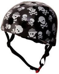 Witte Kiddimoto - Skulls - Small - Geschikt voor 2-6jarige of hoofdomtrek van 48 tot 52 cm - Skatehelm - Fietshelm - Kinderhelm - Stoere helm - Jongens helm