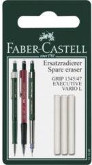 Witte Faber-Castell Reservegum FC Grip 1345/1347 - 3 stuks op blister