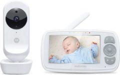 "Witte Motorola Babymonitor EASE34 - Babyfoon - 4.3"" Scherm - Zoomfunctie"
