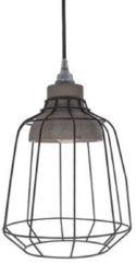 Van de Heg - Hanglamp Ake - Metaal/Beton/Zwart - E27 - IP20 - Dimbaar > lampen hang | hanglamp eetkamer | lamp