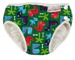 ImseVimse wasbare Zwemluier - groen Dino - M 7-10 kg - groen - jongen