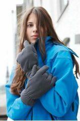 Grijze Myrtle Beach Thinsulate Fleece Handschoenen - Maat L/XL - Aubergine
