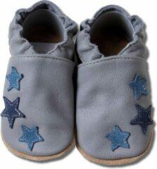 Hobea Babyslofjes grijs met blauwe sterren