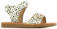 Shoesme wit leren sandaal met zwarte stippen (CS21S004-D). Maat 20