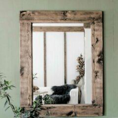 Donkerbruine Moodadventures   Exclusives   Spiegels   Lijst Donker Hout   140x110 cm.   Lijstbreedte 15 cm.