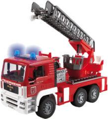 Rode Bruder 02771 - MAN Brandweerwagen met draaibare ladder,waterpomp en licht- en geluidsmodule - Ladderwagen