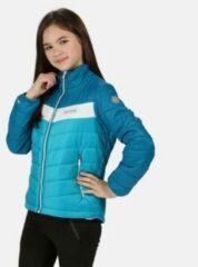 Freezeway II geïsoleerde, gewatteerde wandeljas van Regatta voor Kinderen, Sportjas met waterafstotende afwerking, helder turquoise methyleenblauw