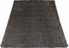 Antraciet-grijze Veercarpets Karpet Lago Antraciet 26 - 130 x 190 cm - Hoogpolig vloerkleed