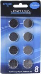 Zilveren GeBoWeb Blisterverpakking Met 8 Knoopbatterijen 3V CR2032 Lithium