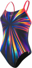 Speedo StrobeGlow Placement Digital Rippleback Badpak Dames zwart/bont Maat DE 36 | UK 32