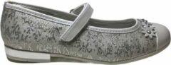 Zilveren Primigi velcro witte bloemen bandje glitter ballerina 1440733 silver mt 28