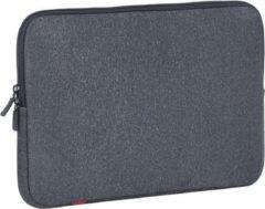 Grijze Riva Case Rivacase Antishock Laptop Sleeve 12 inch Dark Grey