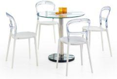Transparante Home Style Glazen eettafel Cyryl 80 cm breed