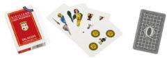 Dal Negro speelkaarten Siciliane 82 mm PVC rood 40-delig