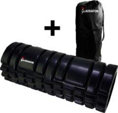 Zwarte Gladiator Sports Foam roller (33 cm)