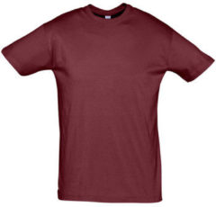 Bordeauxrode T-shirt Korte Mouw Sols REGENT COLORS MEN