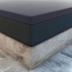 Antraciet-grijze Suite sheets Topper Hoeslaken Jersey Antraciet Waterbed/Boxspring - 200 x 220/230 cm