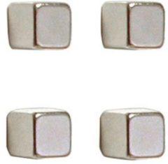 Franken Neodymium magneet (b x h x d) 10 x 10 x 10 mm dobbelsteen Zilver 4 stuk(s) HMN1010