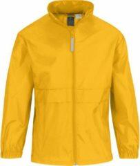 Bc Regenkleding voor jongens/meisjes zonnebloemgeel - Sirocco windjas/regenjas voor kinderen 9-11 jaar (134/146) geel