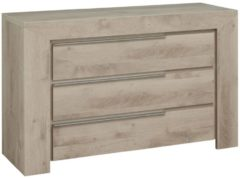Gamillo Furniture Ladekast Sarlat 80 cm hoog in donker eiken