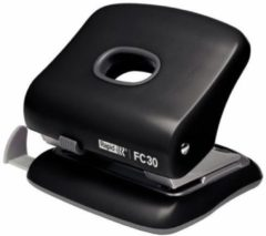 Rapid Fashion bureau perforator FC30, 2 gaats, 30 vel, zwart