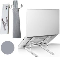 Grijze JLM High End Products - Verstelbare Ergonomische Laptopstandaard - Laptopstandaarden - Notebookstandaard - Standaard Universeel - Lichtgewicht Apple Macbook/Air, iPad, Asus, HP, ACER, Microsoft, Lenovo, Window Thuiswerken- Aluminium Standaard