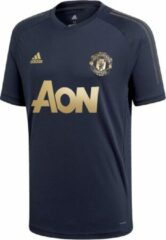 Antraciet-grijze Adidas Performance Voetbaltricot Manchester United 18/19 CW7568