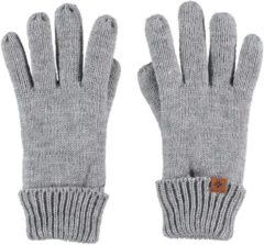 Sarlini Lichtgrijze gebreide handschoenen voor kinderen - One size - Warme fleece voering handschoenen voor jongens/meisjes