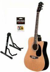 Fazley W50CN starter set akoestische gitaar naturel