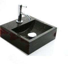 Grijze Sanilux FonteinPack SQUAR hardsteen 30x30x10cm (Keuze uit 18kranen)