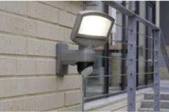 ECO-Light Sunshine P9016 SI Solar wandlamp met bewegingsmelder 3.2 W Koud-wit Zilver