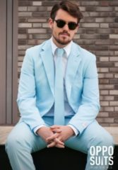 Lichtblauwe OppoSuits Cool Blue - Kostuum - Maat 50