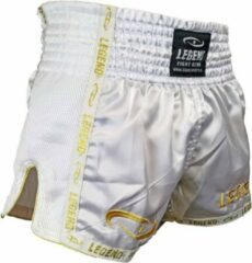 Gouden Legend Sports Kickboks broekje gold/white Legend Trendy 8-11 jaar